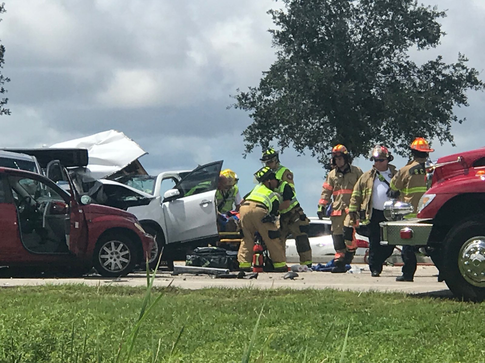 7 Injured In 8-Vehicle Truck Crash On Fruitville Road In Sarasota
