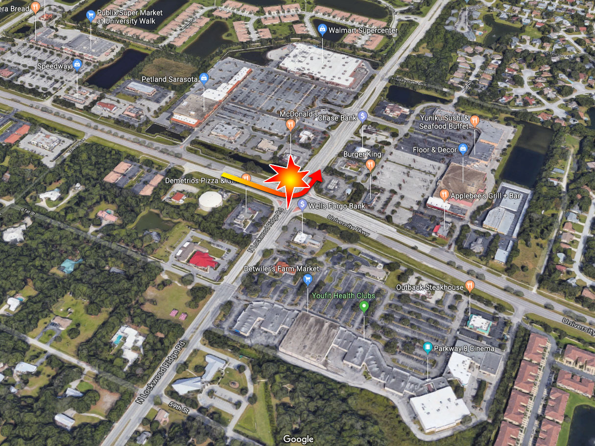 Sarasota Woman Killed, Infant In Critical After Red-Light Crash At University Pkwy & Lockwood