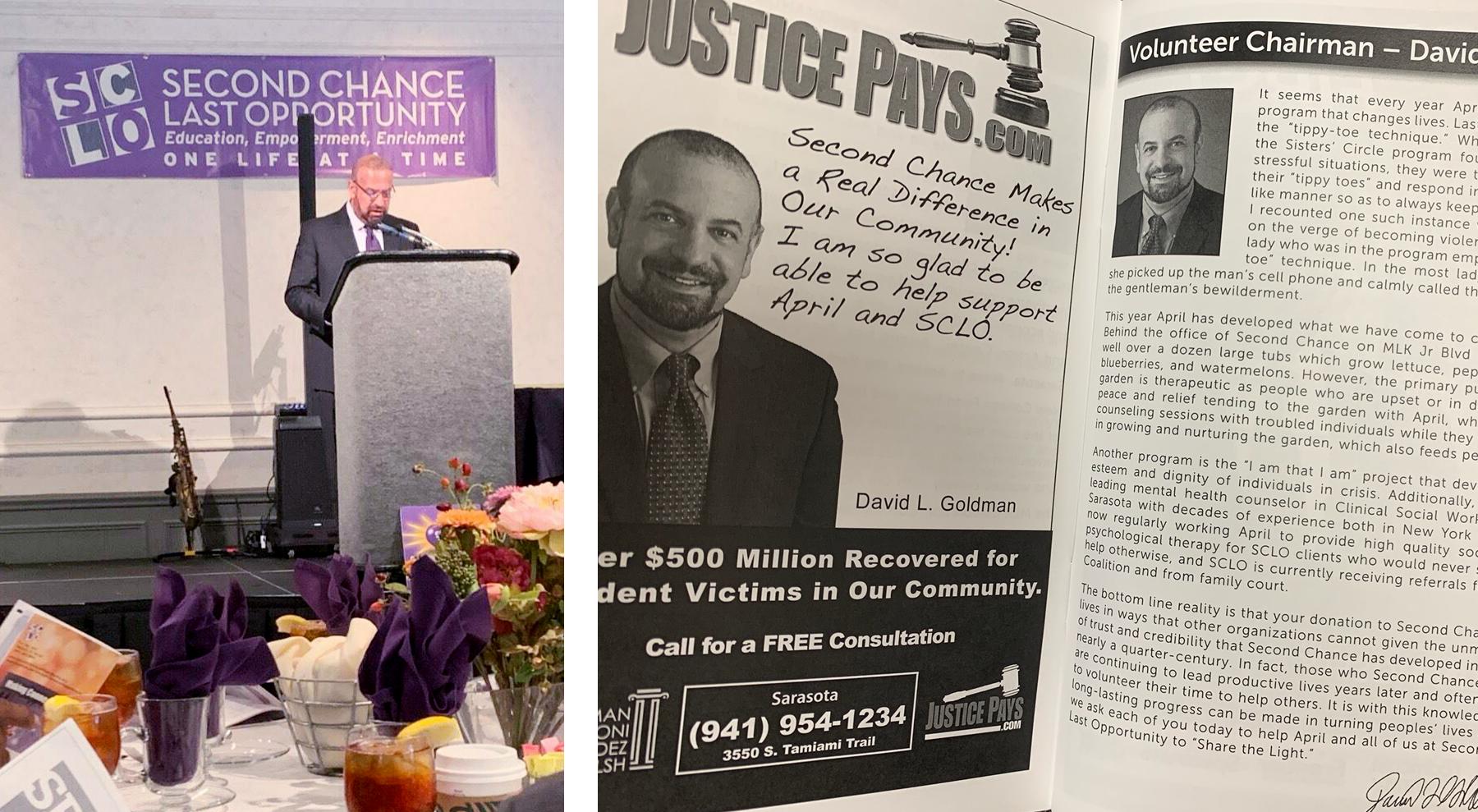 Attorney David Goldman Hosts Luncheon For Sarasota Charity