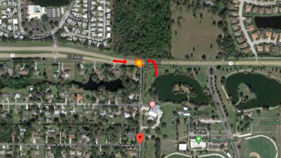 Sarasota Woman Seriously Injured After Collision With FedEx Van On Clark Road