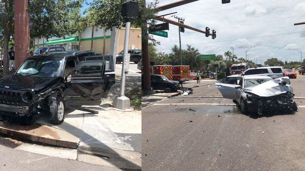Crash In Sarasota At Tamiami Trail and Myrtle Street