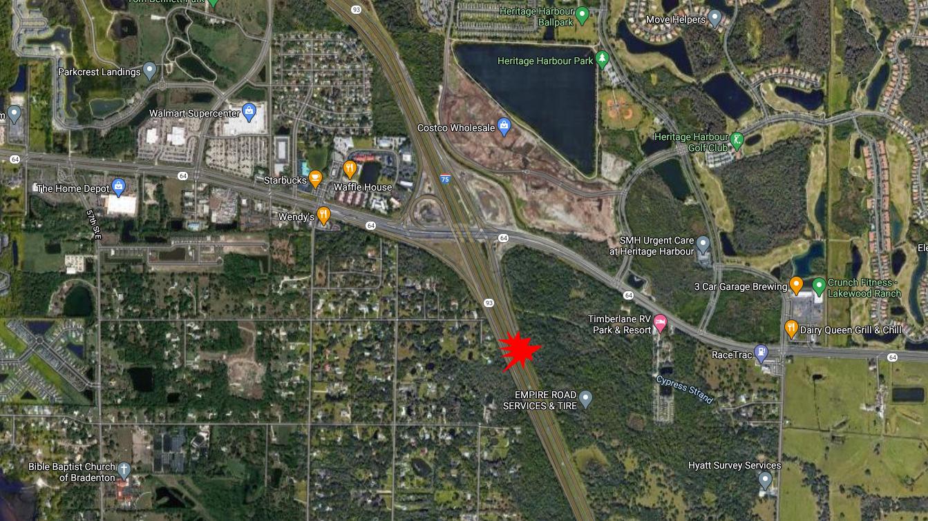 Bradenton Man Dies In Crash On I-75 At SR 64