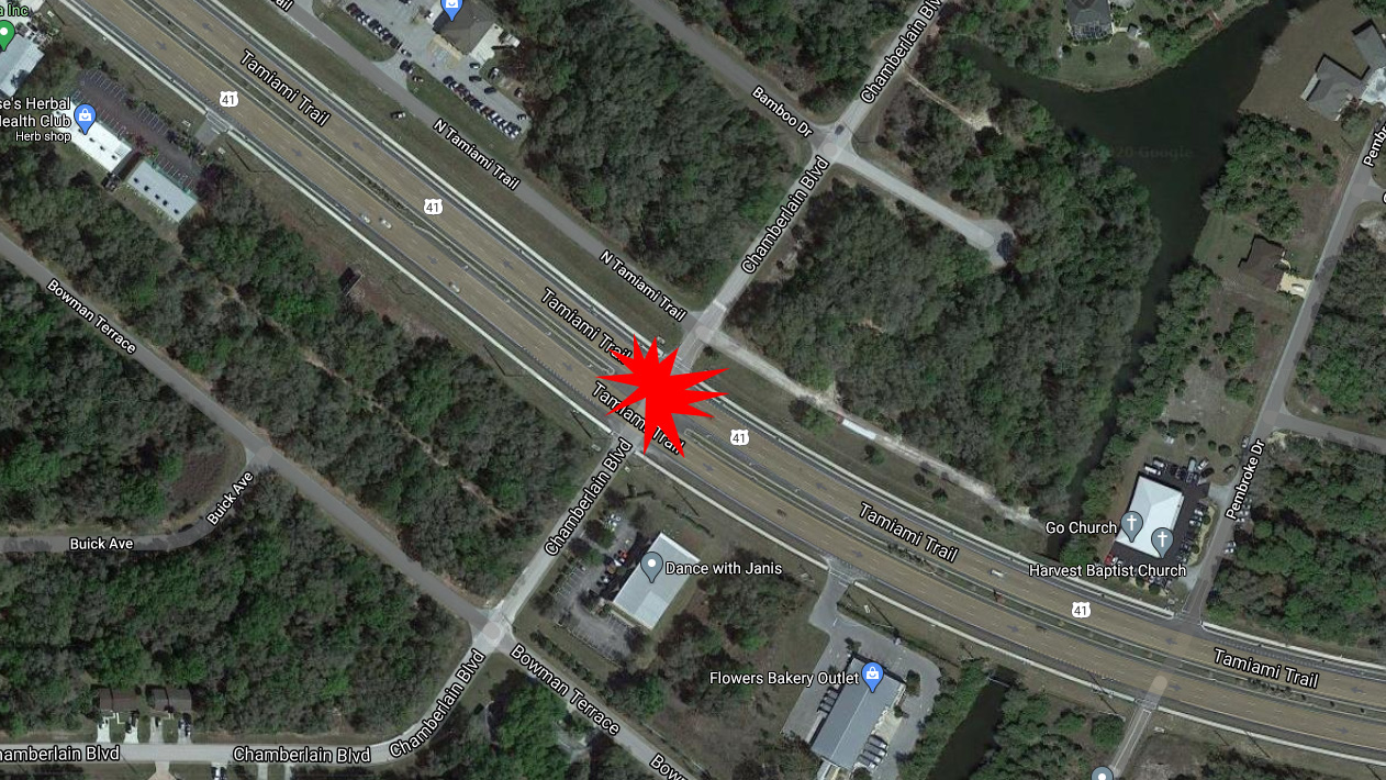 Port Charlotte Motorcyclist Killed In Crash At US 41 & Chamberlain Blvd.