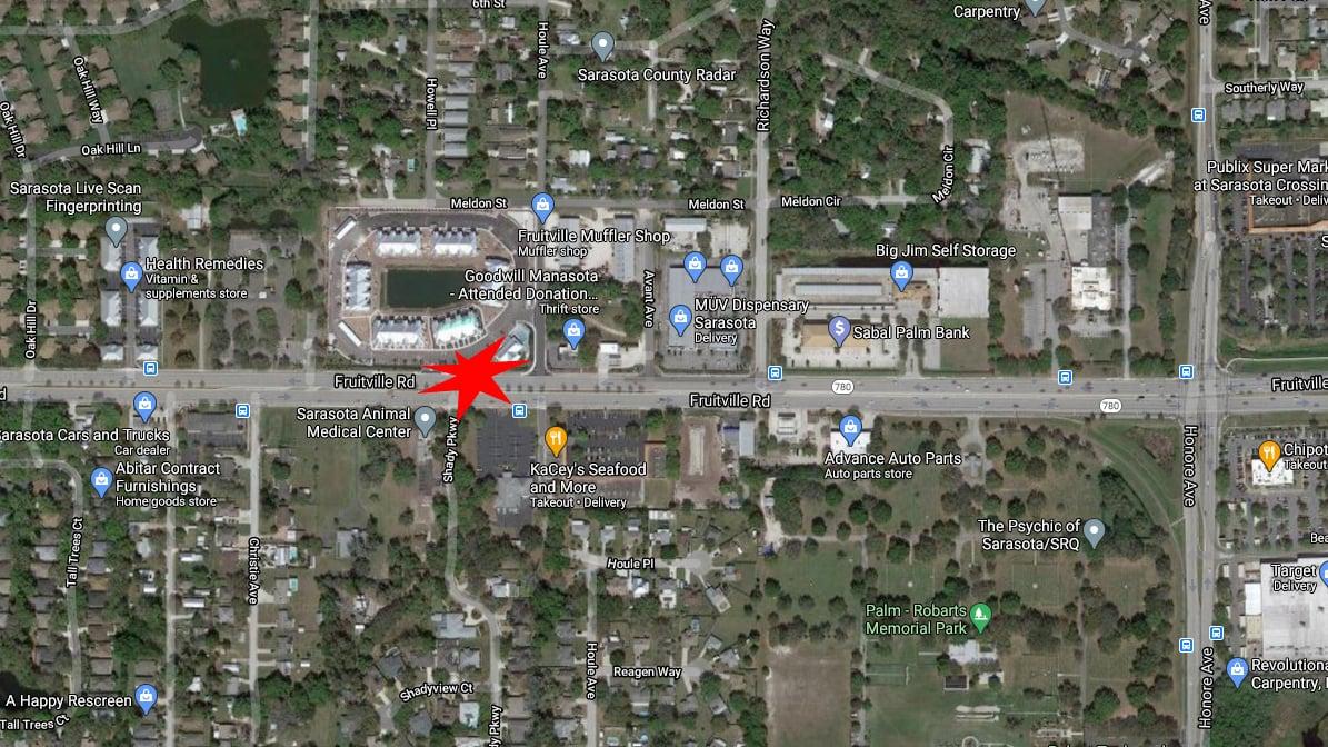 Sarasota Pedestrian Stuck And Killed Crossing Fruitville Road