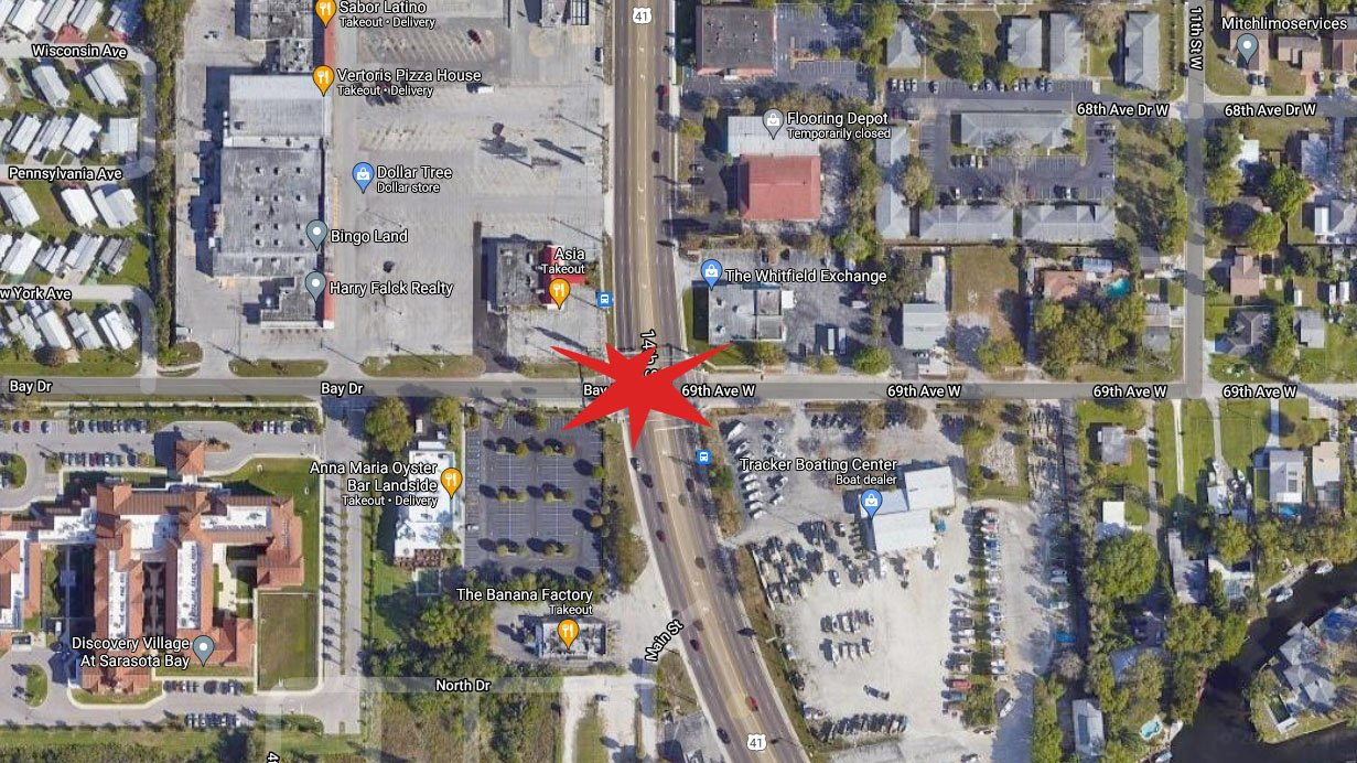 Sarasota Man Dies After Being Stuck By A Car On US 41 Wednesday Night